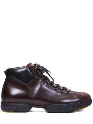 Ботинки кожаные на байке FRANCESCHETTI