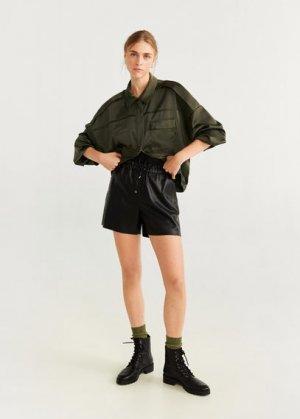 Куртка бомбер-карго - Plane-i Mango. Цвет: хаки