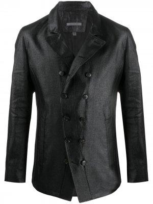 Двубортный пиджак John Varvatos. Цвет: черный