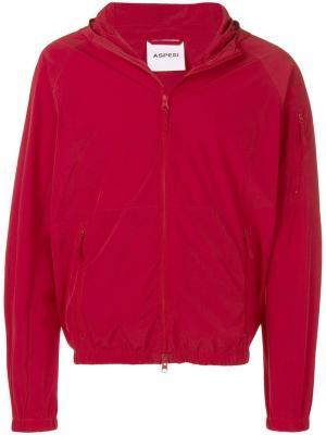 Легкая куртка с капюшоном Aspesi. Цвет: красный