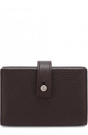 Кожаный кошелек Saint Laurent. Цвет: бордовый