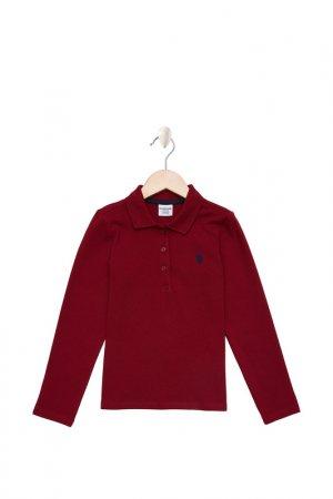 Лонгслив U.S. Polo Assn.. Цвет: vr030 бордовый