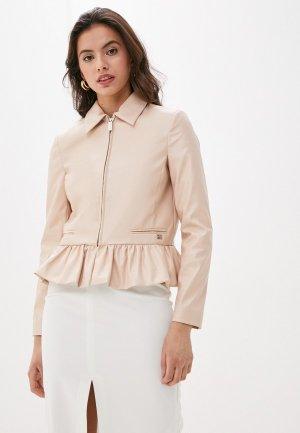 Куртка кожаная Be Blumarine. Цвет: розовый