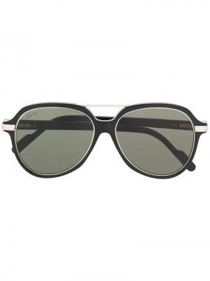 Солнцезащитные очки C Décor Cartier Eyewear. Цвет: черный