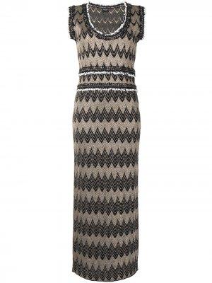 Платье с геометричным принтом Giambattista Valli. Цвет: черный