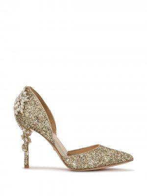 Туфли-лодочки Vogue III с блестками Badgley Mischka. Цвет: золотистый