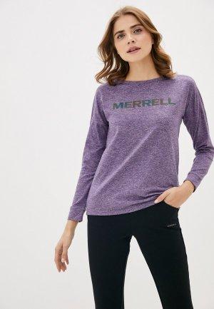 Лонгслив Merrell. Цвет: фиолетовый