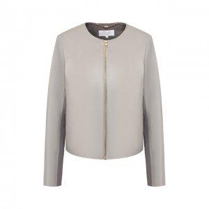 Кожаная куртка Escada Sport. Цвет: серый