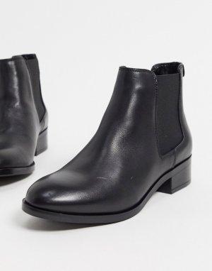 Черные кожаные ботинки челси -Черный ALDO