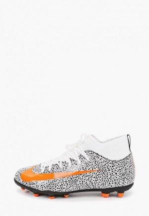 Бутсы Nike JR SUPERFLY 7 CLUB CR7 FG/MG. Цвет: белый