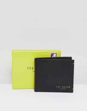 Кожаный складной бумажник с отделением для монет Harvys-Черный Ted Baker
