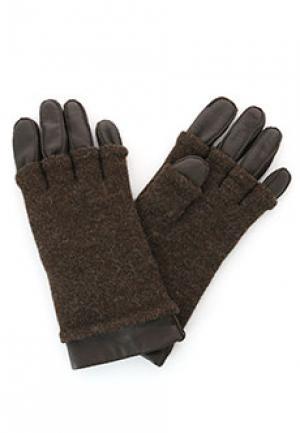 Перчатки SMALTO. Цвет: коричневый
