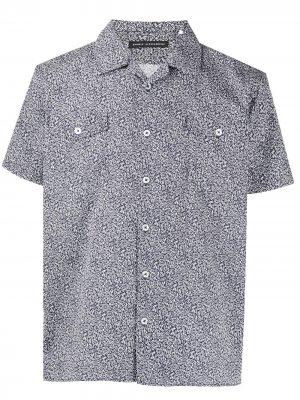Рубашка с абстрактным принтом Daniele Alessandrini. Цвет: синий