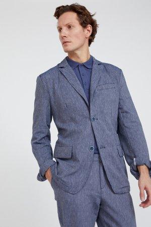 Пиджак мужской Finn-Flare. Цвет: темно-синий