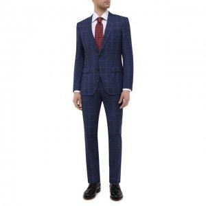 Шерстяной костюм BOSS. Цвет: синий