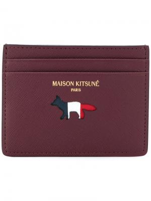 Визитница с лисой Maison Kitsuné. Цвет: красный