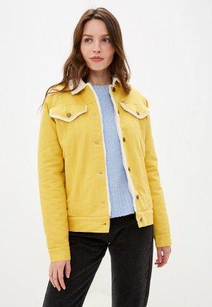 Куртка джинсовая Dasti. Цвет: желтый
