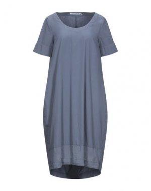 Платье до колена EUROPEAN CULTURE. Цвет: грифельно-синий