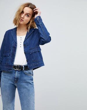 Джинсовая куртка Vero Moda. Цвет: синий