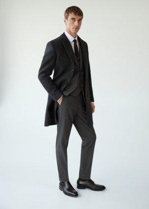 Полушерстяное пальто Tailored - Arizona Mango. Цвет: серый