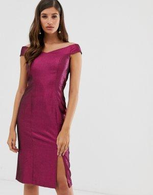 Платье с открытыми плечами Closet-Розовый Closet London