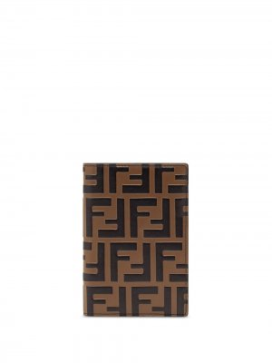 Обложка для паспорта Fendi. Цвет: коричневый