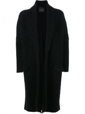 Пальто с карманами клапанами Roberto Collina. Цвет: чёрный