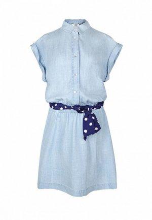Платье Le Temps des Cerises. Цвет: голубой