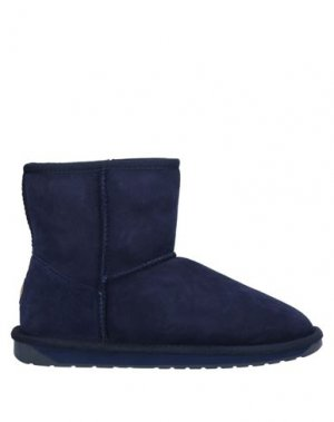 Полусапоги и высокие ботинки EMU. Цвет: темно-синий
