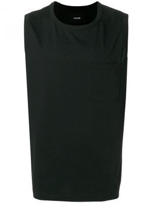 Майка с накладным карманом на груди Lemaire. Цвет: черный