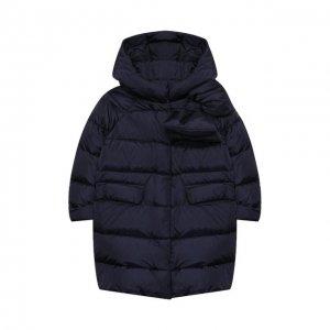 Пуховое пальто Il Gufo. Цвет: синий