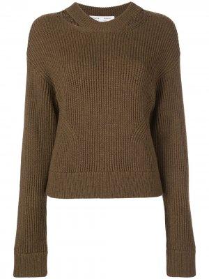 Пуловер крупной вязки в рубчик Proenza Schouler White Label. Цвет: коричневый