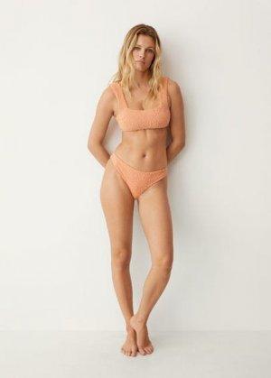 Махровые трусики от бикини с рельефом - Margot Mango. Цвет: лососевый