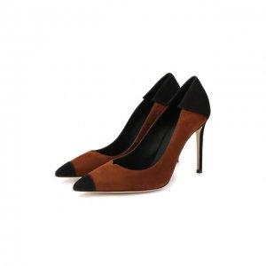 Замшевые туфли Giuseppe Zanotti Design. Цвет: коричневый