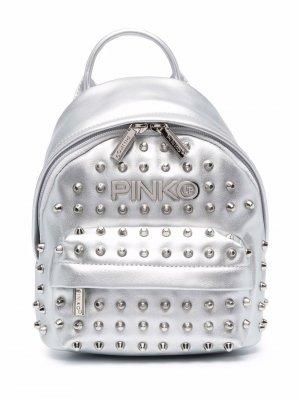 Рюкзак с логотипом Pinko Kids. Цвет: серебристый