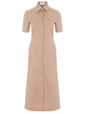 Платье-рубашка однотонное LAROOM