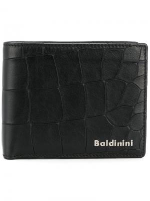 Складной бумажник Baldinini. Цвет: чёрный