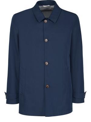 Удлиненная куртка BILANCIONI. Цвет: синий