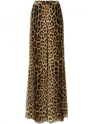 Расклешенные брюки с леопардовым принтом Moschino. Цвет: бежевый