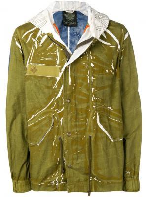 Куртка-дождевик с капюшоном Mr & Mrs Italy. Цвет: зеленый