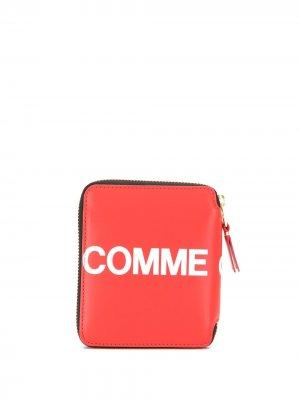 Кошелек на молнии с логотипом Comme Des Garçons Wallet. Цвет: красный
