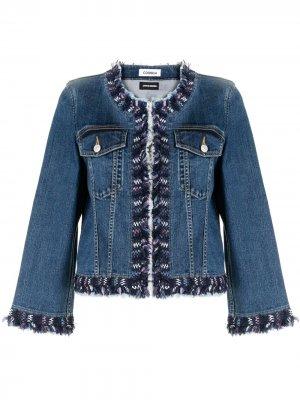 Джинсовая куртка без воротника Coohem. Цвет: синий