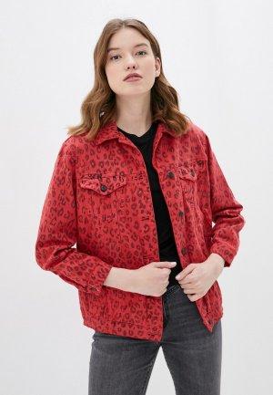 Куртка джинсовая Whitney. Цвет: красный
