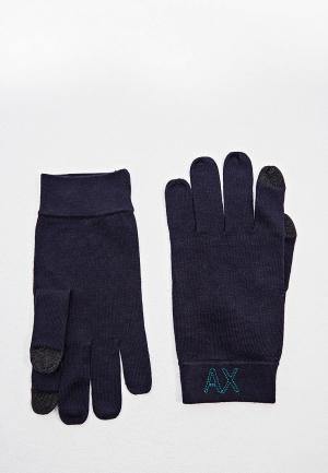 Перчатки Armani Exchange. Цвет: синий