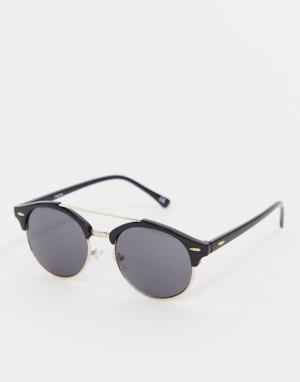 Черные солнцезащитные очки в стиле ретро Inspired эксклюзивно для ASOS-Черный Reclaimed Vintage