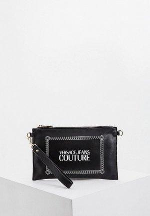 Клатч Versace Jeans Couture. Цвет: черный