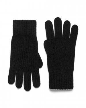 Шерстяные перчатки Benetton. Цвет: черный