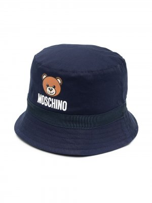 Панама с принтом Teddy Bear Moschino Kids. Цвет: синий