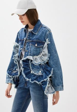 Куртка джинсовая Diesel. Цвет: синий