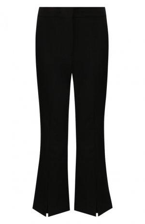 Шерстяные брюки Adam Lippes. Цвет: чёрный